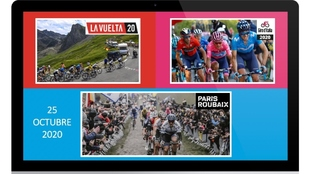 Montaje de Carlos Barredo con fotos oficiales de las carreras