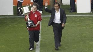 Homenaje a Alfredo en 2011 con la visita del Mallorca al Calderón