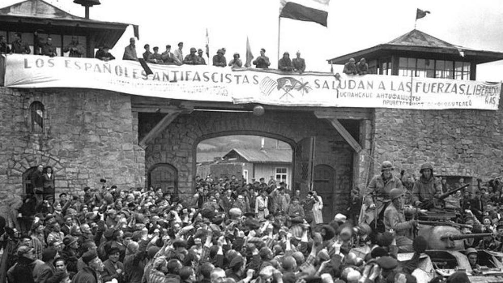 Liberacion de Mauthausen el 5 de mayo de 1945.