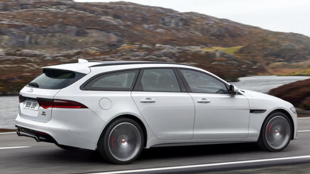 El Jaguar XF Sportbrake con el que se quería empalmar el Model S