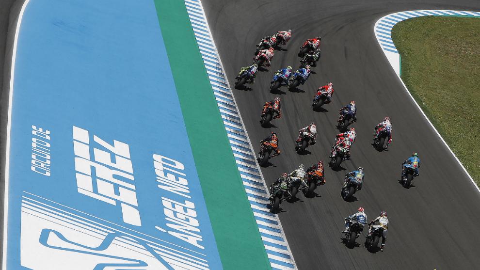 Imagen de una carrera en el Circuito de Jerez-Ángel Nieto.
