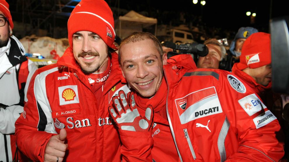 Alonso y Rossi, en 2011.