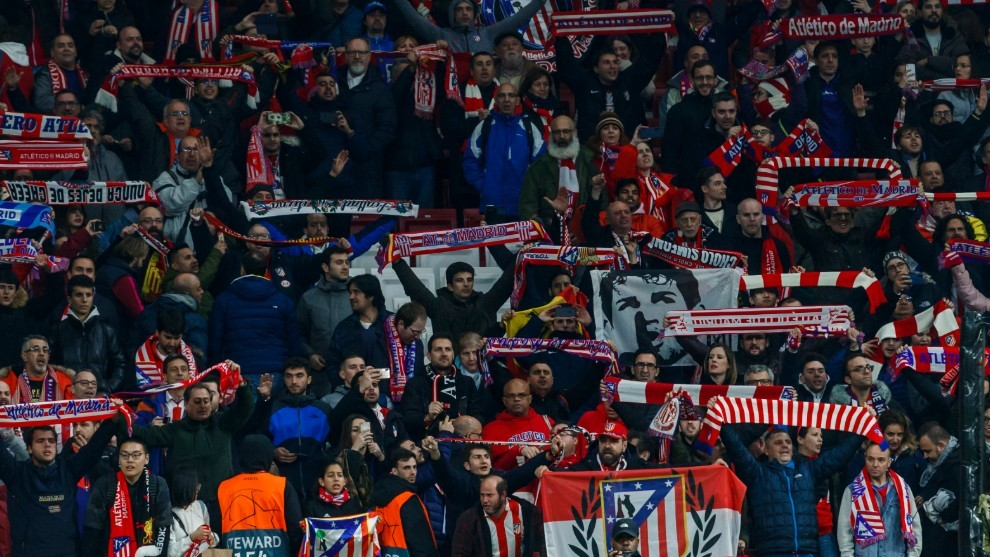 Atletico Madrid fans always there, in good times and bad