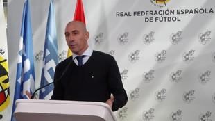 Luis Rubiales, en una comparecencia de prensa.