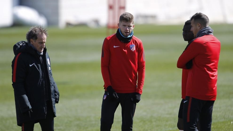 Caio, en un entrenamiento en su primera etapa en el Atlético.