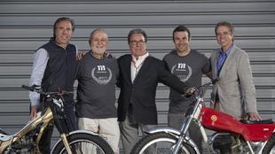 Cañellas, en el centro, junto a Jordi Cañellas, Pere Pi, y a su...