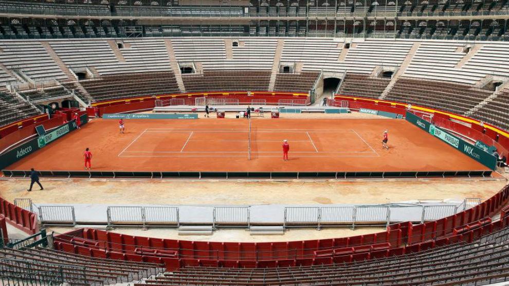La plaza de toros de Valencia, en una serie de Copa Davis