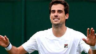 Guido Pella, en el último Wimbledon