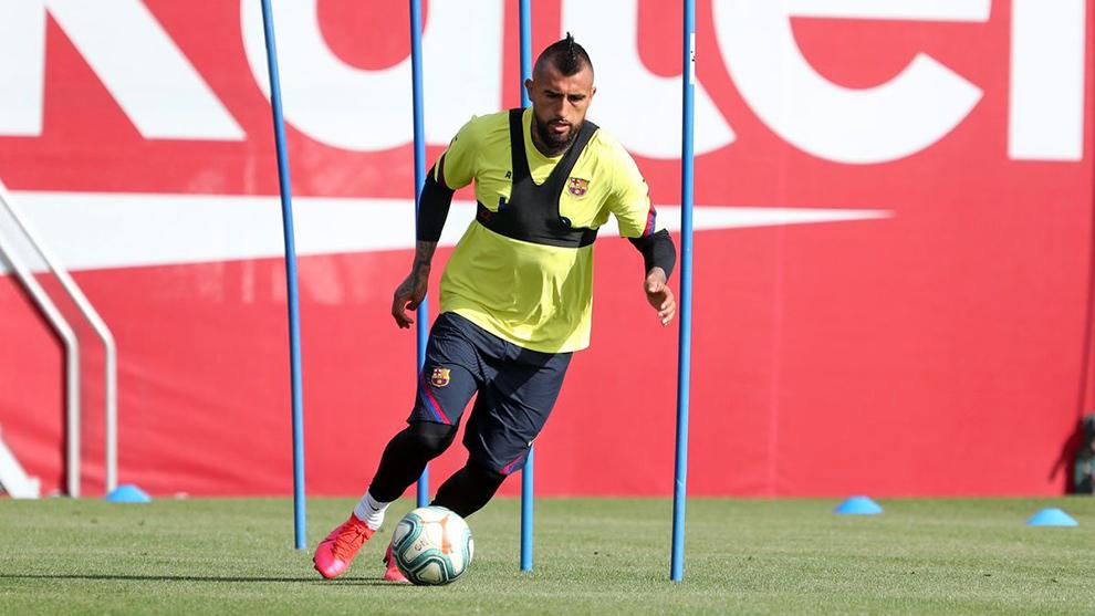 Arturo Vidal, en la Ciudad Deportiva.