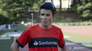 Javier Gómez Noya, embajador de 123aCorrer del Banco Santander.
