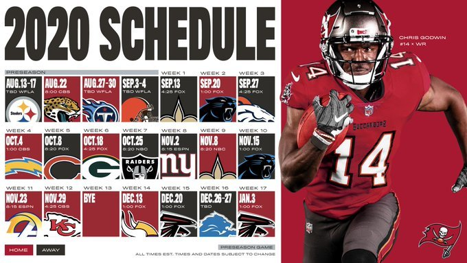 NFL 2020: Calendario completo de la temporada 2020 de la NFL
