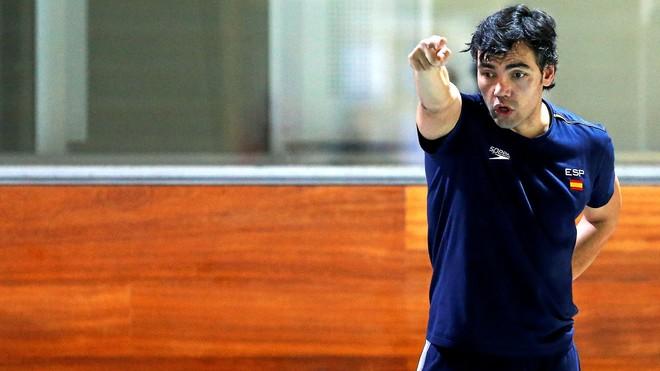 Gaby Hernández, en un entrenamiento de la selecciçon española en...