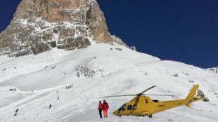 Imagen de uno de los rescates de esquí de montaña