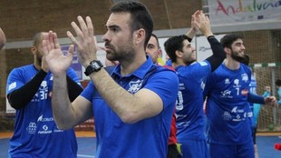 El próximo entrenador del Sinfín, Víctor Montesinos, en el equipo...
