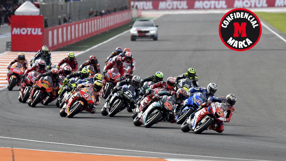 Miller lidera el grupo en el GP de la Comunidad Valenciana 2019.