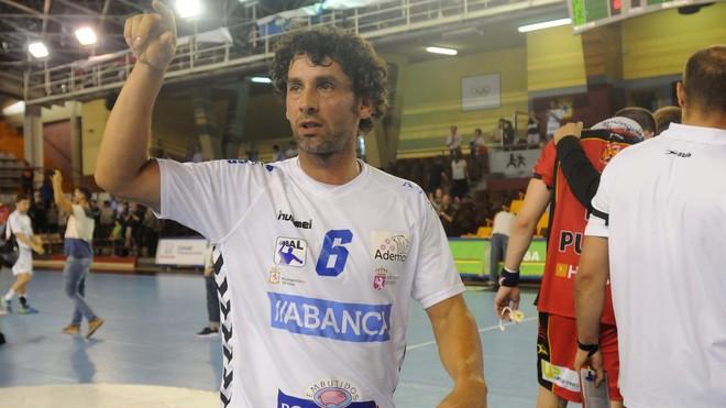Juanín Garacía, tras un partido con el Ademar León /