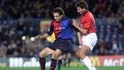 Litmanen, en un encuentro con el Barça.
