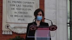 Isabel Díaz Ayuso durante un acto.