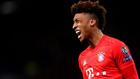 Kingsley Coman, druante un partido de Champions con el Bayern.