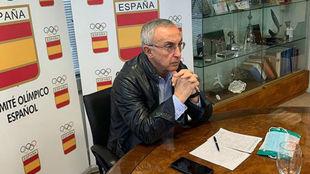 Alejandro Blanco, en el COE.