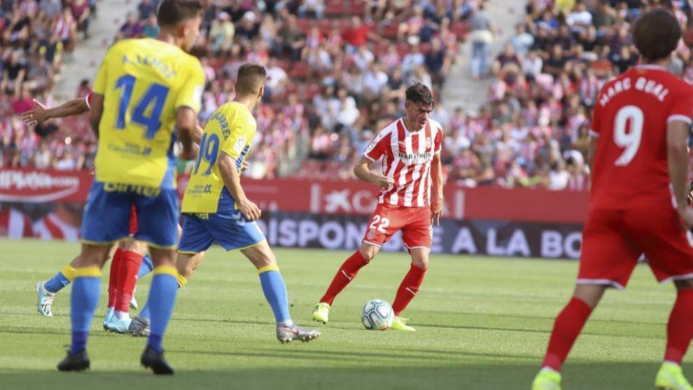 Jozabed, en el partido ante Las Palmas de esta temporada en Montilivi
