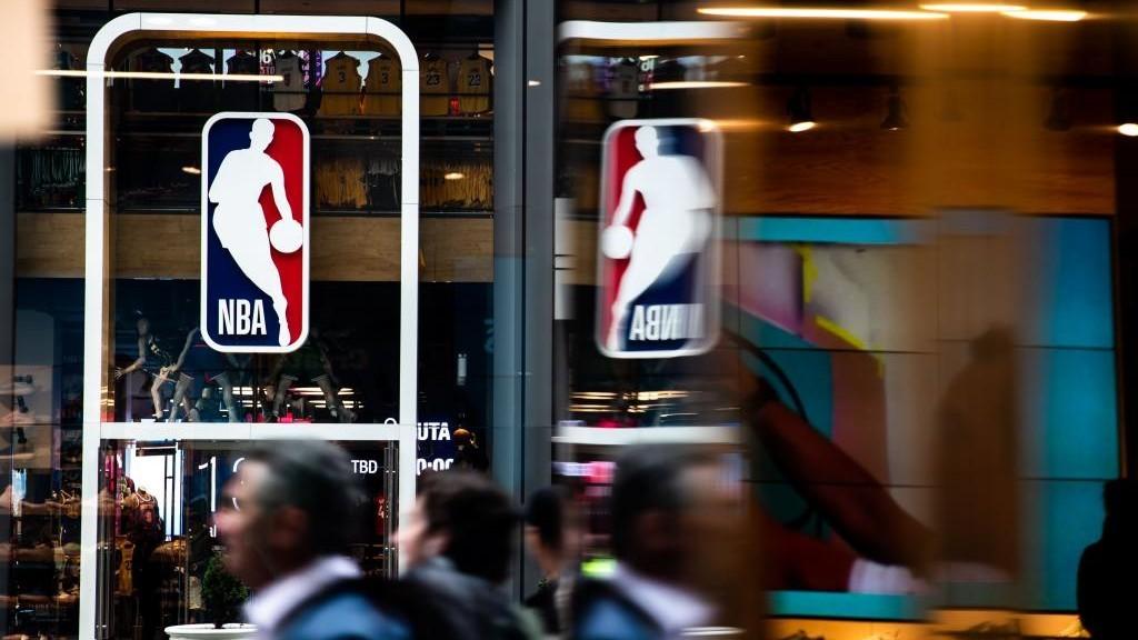 La tienda oficial de la NBA en la Quinta Avenida de Nueva York.