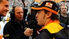 Martin Brundle entrevista a Fernando Alonso.