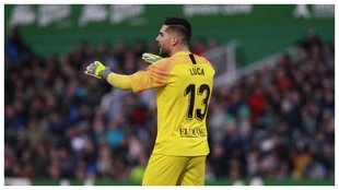 Luca Zidane, durante un partido