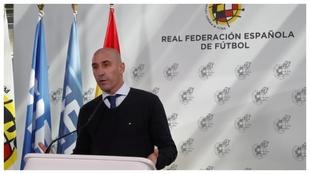 Luis Rubiales, en una rueda de prensa