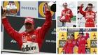 Schumacher, Lauda, Alonso y Prost (junto a Mansell).