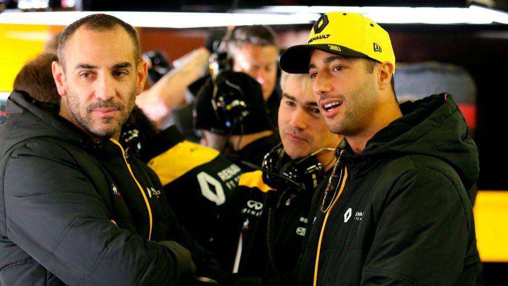 Cyril Abiteboul con Daniel Ricciardo.