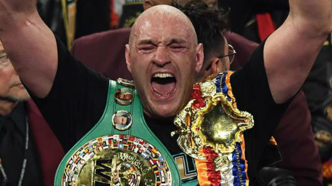 Tyson Fury tras ganar a Wilder la segunda pelea.