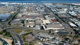 Vista aérea de la planta de Nissan en la Zona Franca de Barcelona.