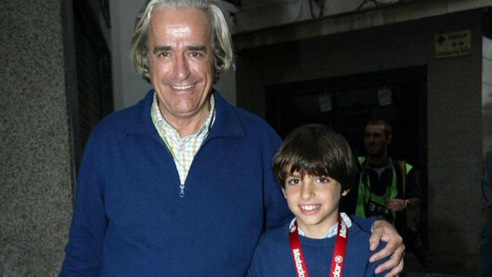 Juanjo Lacalle, con Carlos Sainz en 2004.