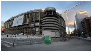Las obras del Bernabéu siguen a toda máquina aprovechando el parón...