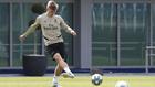 Kroos, durante un entrenamiento con el Madrid en Valdebebas.