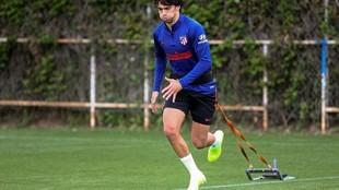 Joao Félix, en un entrenamiento.