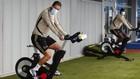 Hazard (29) y Mendy (24), en el entrenamiento de ayer.