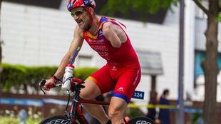 Kini Carrasco, durante una competición.