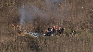 Imágenes del helicóptero accidentado donde viajaba Kobe Bryant y el...