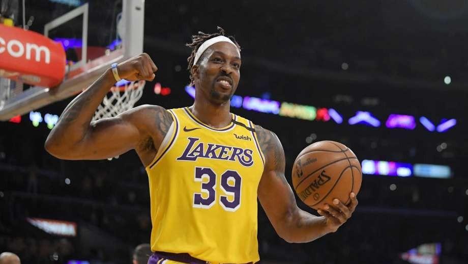 Dwight Howard,en un partido de esta temporada con los Lakers.