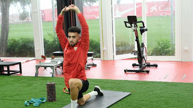 Munir, en el gimnasio de la Ciudad deportiva.