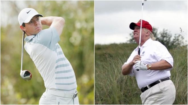 Rory McIlroy y Donald Trumpo.