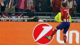 Griezmann celebra uno de sus goles al Marsella