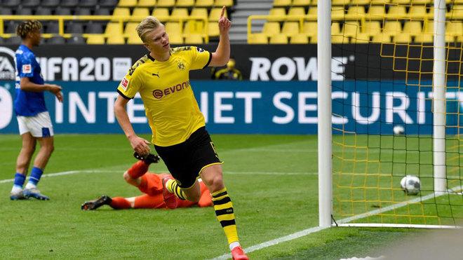 Dortmund vs Schalke: Haaland scores first goal since Bundesliga's ...