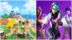 Animal Crossing y Fortnite, con más menciones en Twitter.