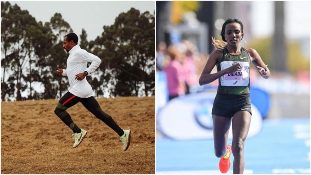 Kenenisa Bekele y Tirunesh Dibaba.