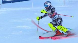 Ester Ledecka en la combinada de Altenmark, el pasado enero.