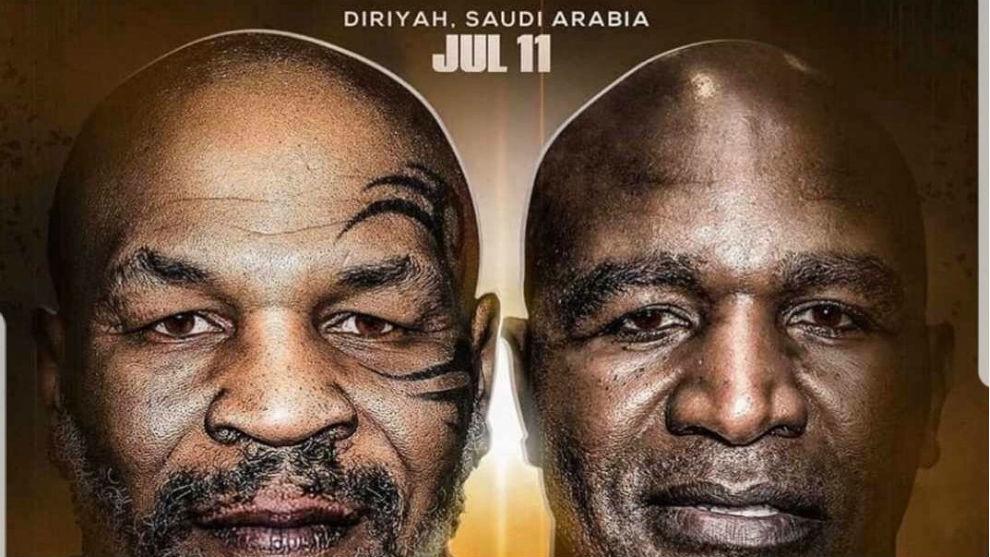 El duelo entre Holyfield y Tyson podría ser el 11 de julio en Arabia y ya tiene cartel