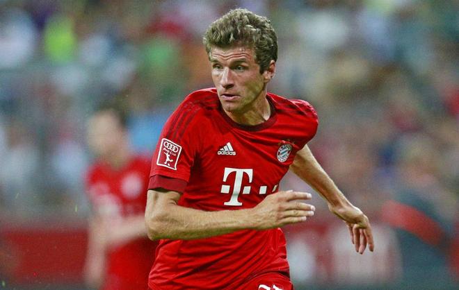 Müller, en un partido con el Bayern.